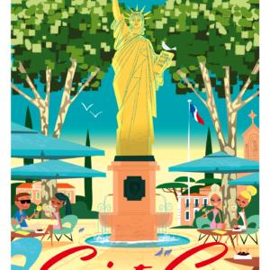 Affiche statue de la liberté Monsieur Z