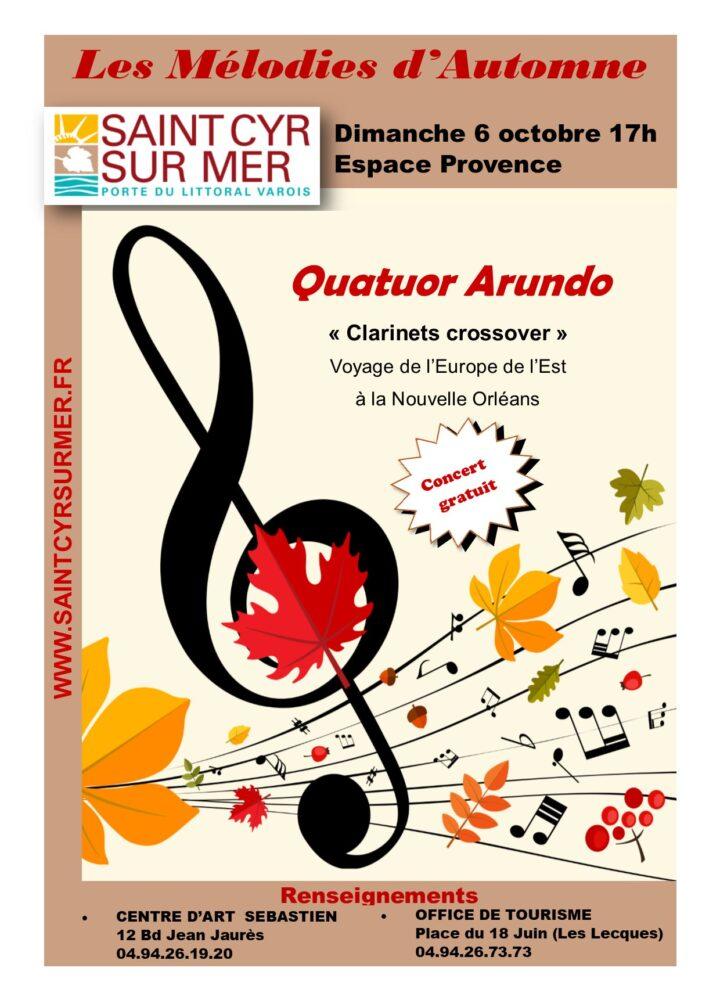 Affiche Quatuor Arundo