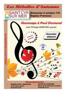 Affiche concert Mélodies d'Automne - Jean-Philippe Sempere Quartet