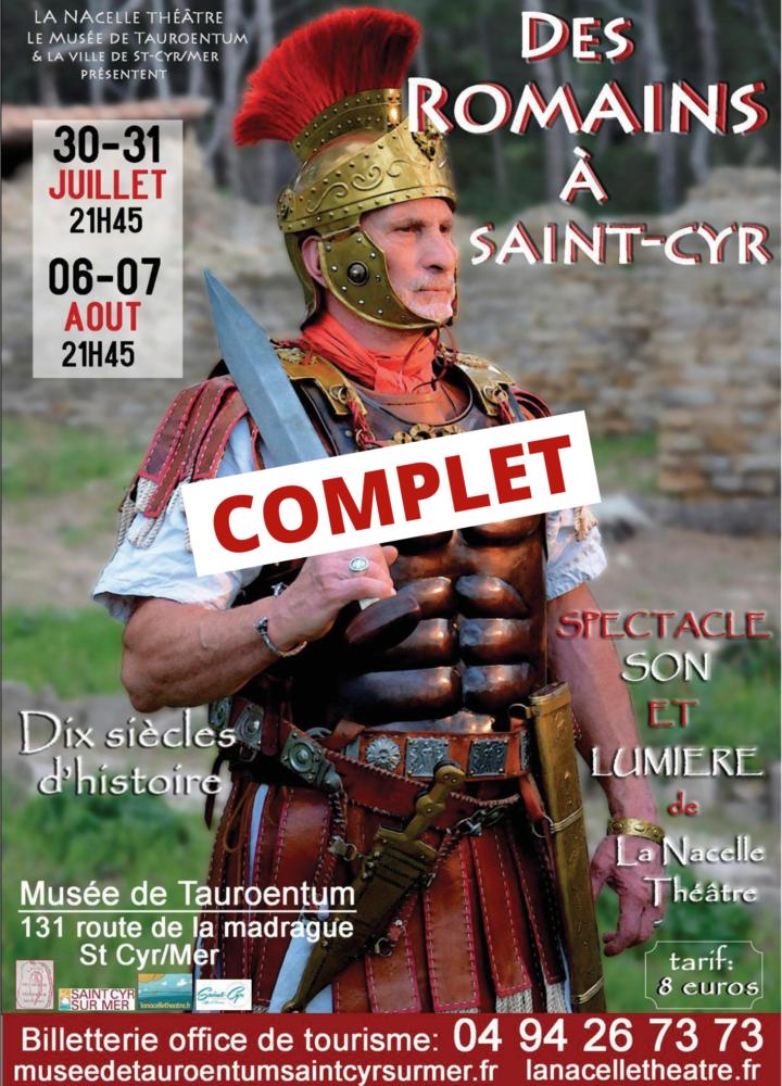 Affiche des Romains à Saint-Cyr - COMPLET