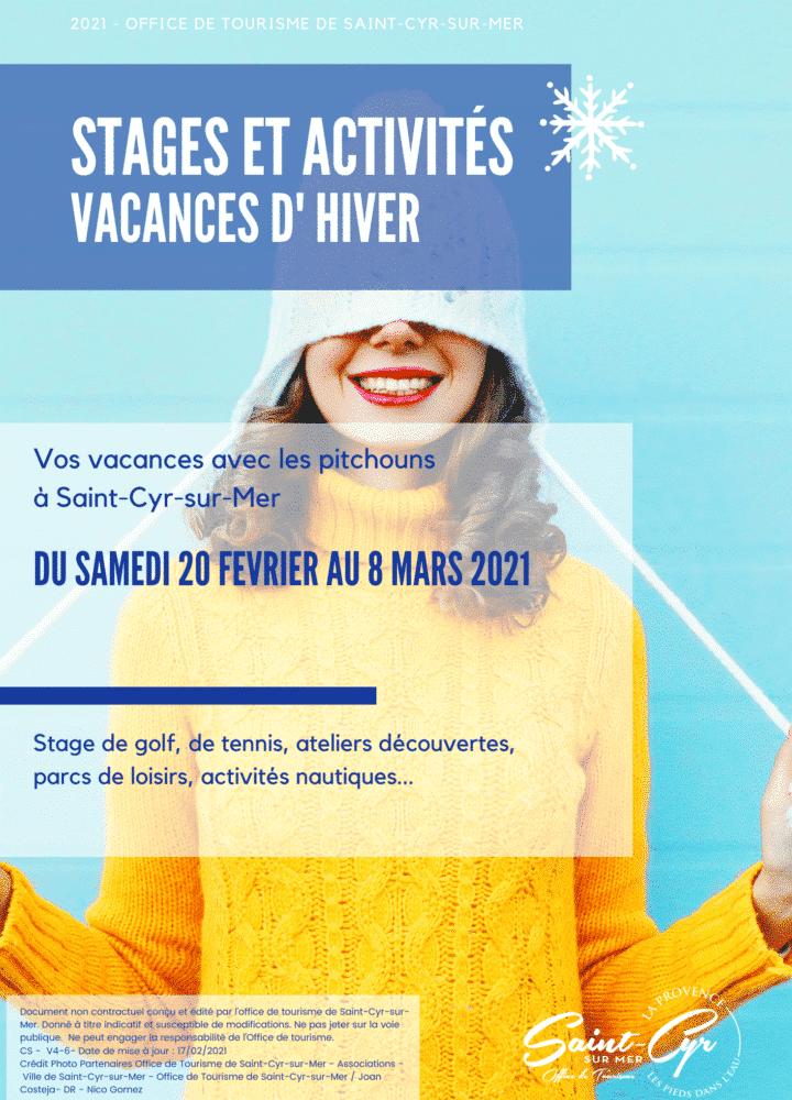 _Stages et activités des vacances d'hiver 2021 à Saint Cyr sur Mer V4-1