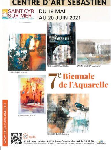 La 7ème Biennale de l'aquarelle au Centre d'Art Sébastien