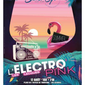 Affiche de l'Electro Pink le 12 Août à Saint-Cyr-sur-Mer