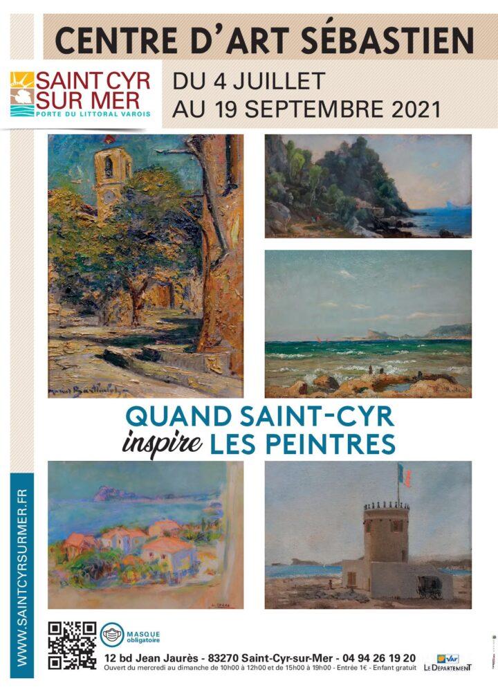 affiche V1 quand St Cyr inspire les peintres
