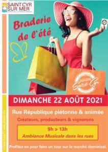 Affiche de la braderie de l'été à Saint-Cyr-sur-Mer