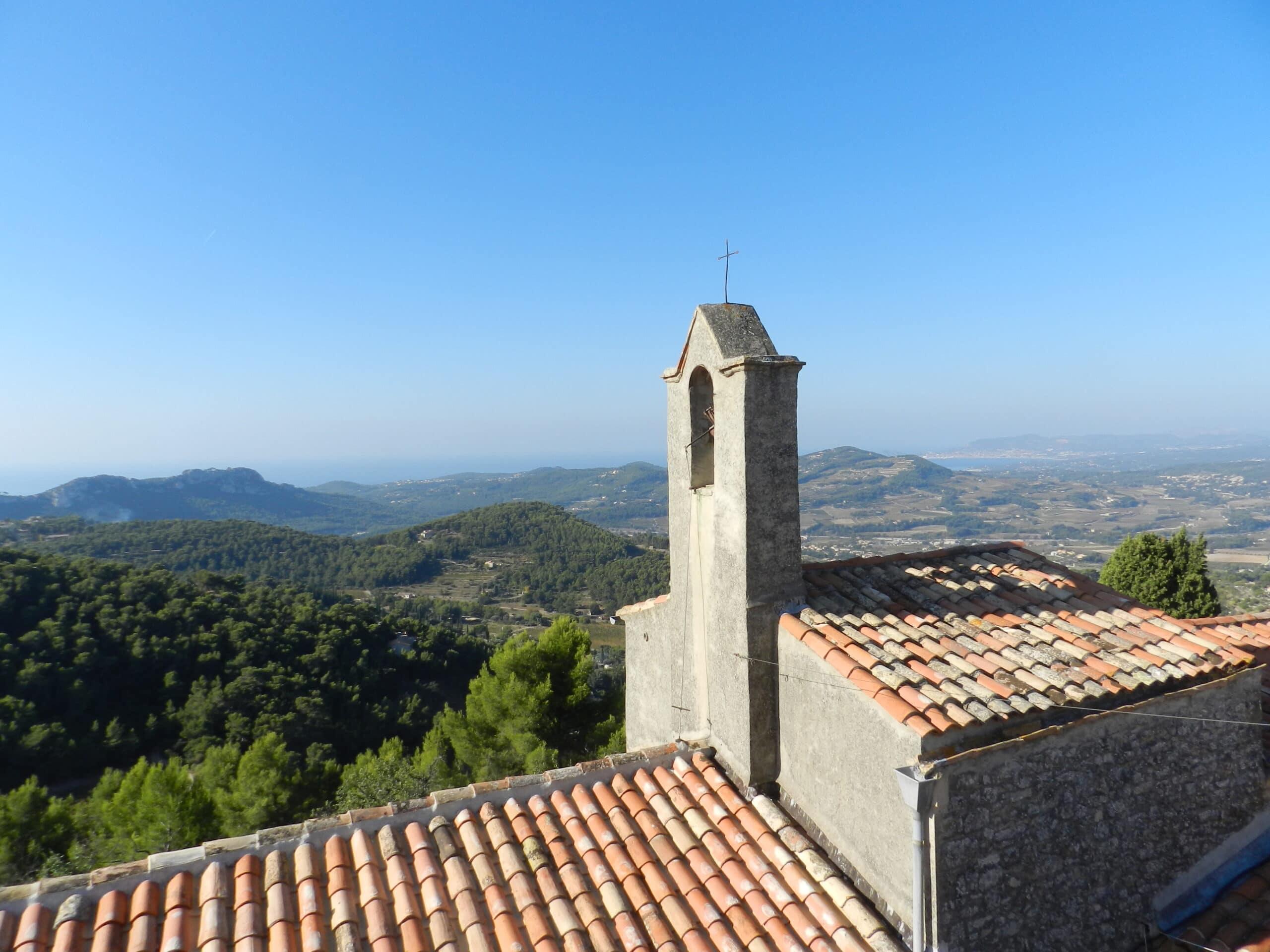 Vue panoramique depuis le Beausset vieux